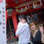 神津神社でお宮参りの写真撮影