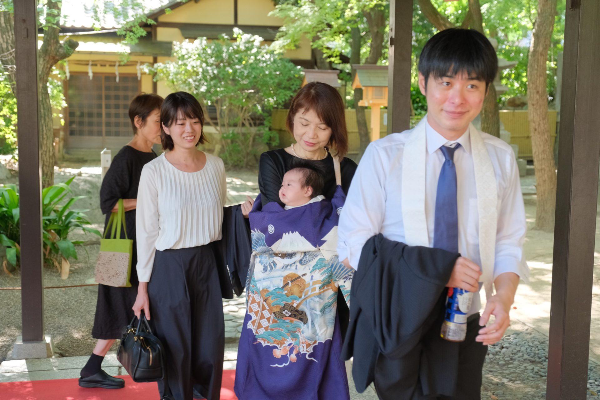 湊川神社お宮参りの写真