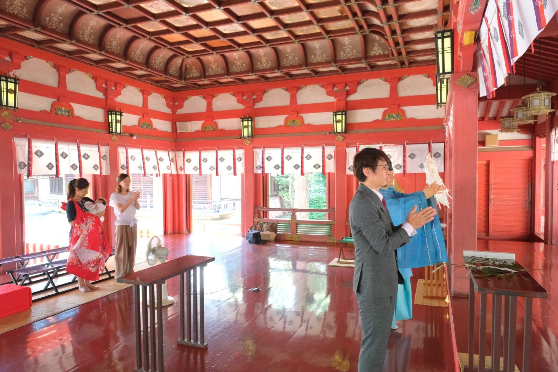 長田神社お宮参り写真