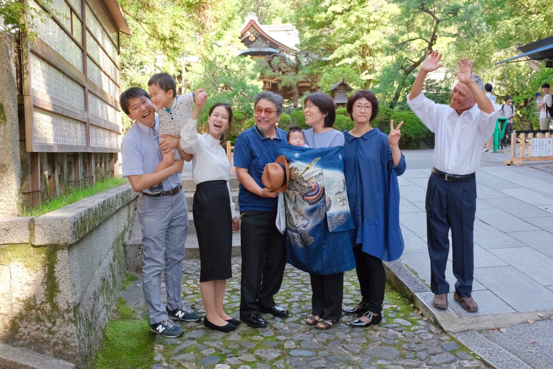 岡崎神社お宮参りの写真