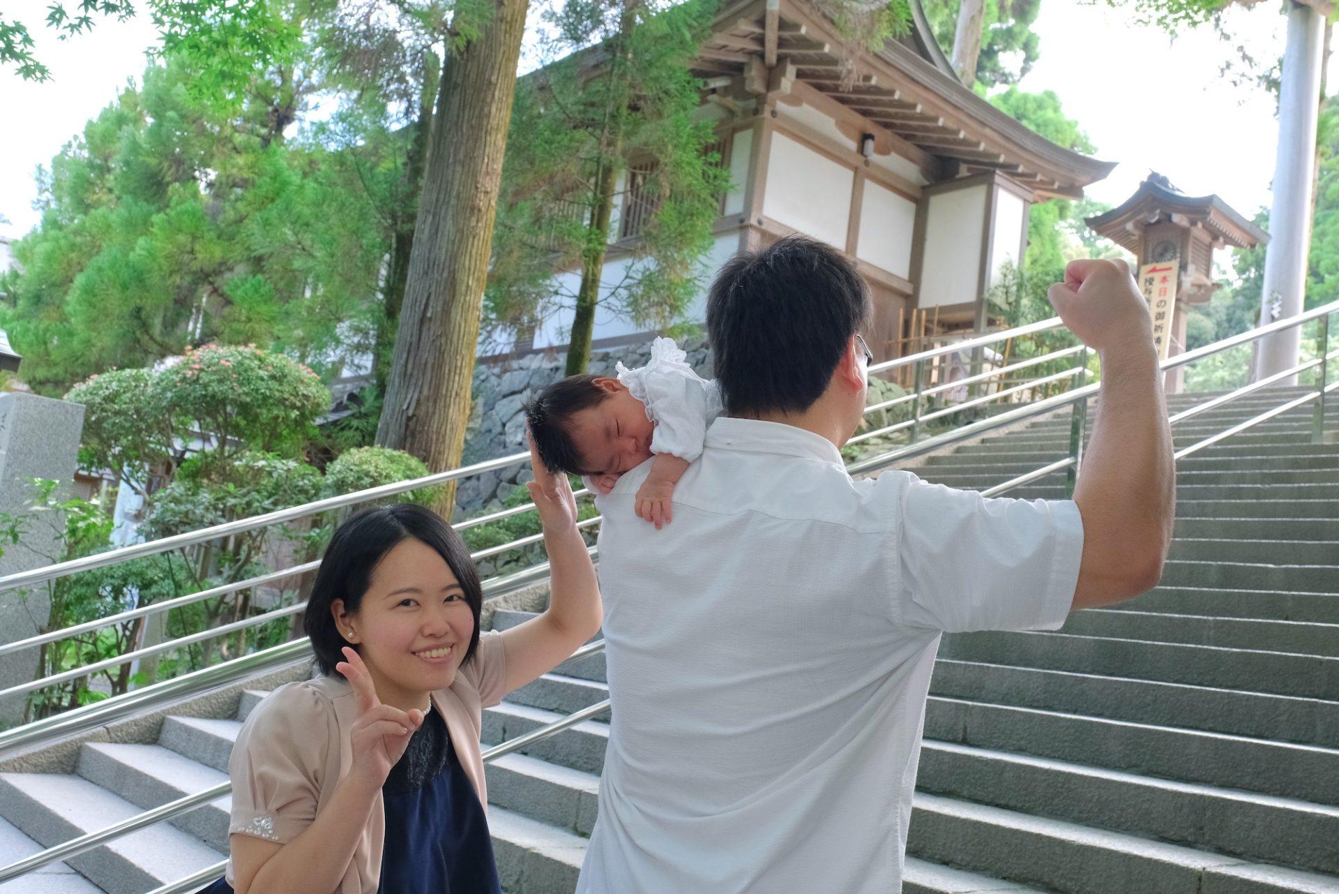 大神神社でお宮参り写真撮影