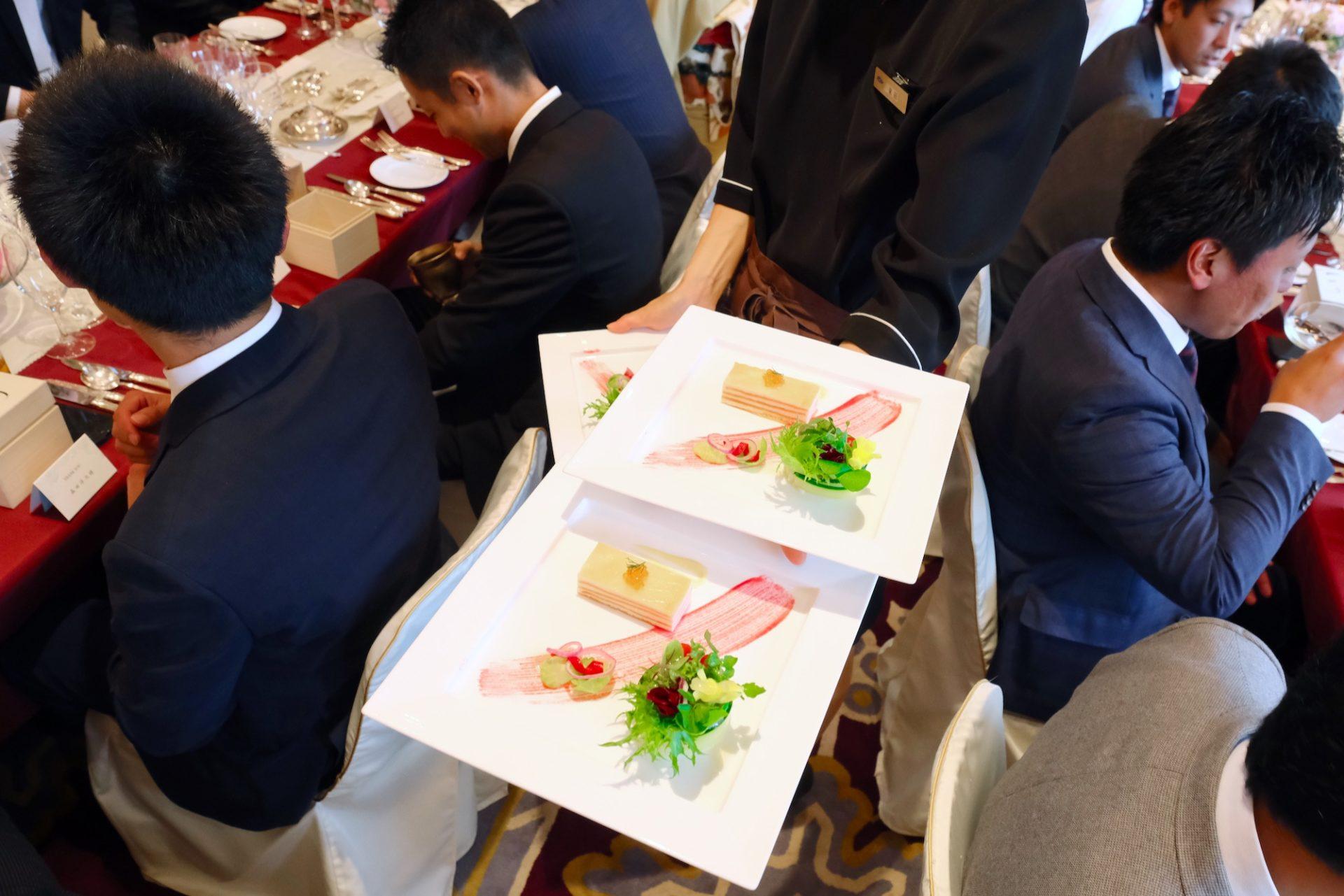 京都ホテルオークラで結婚式後の披露宴写真
