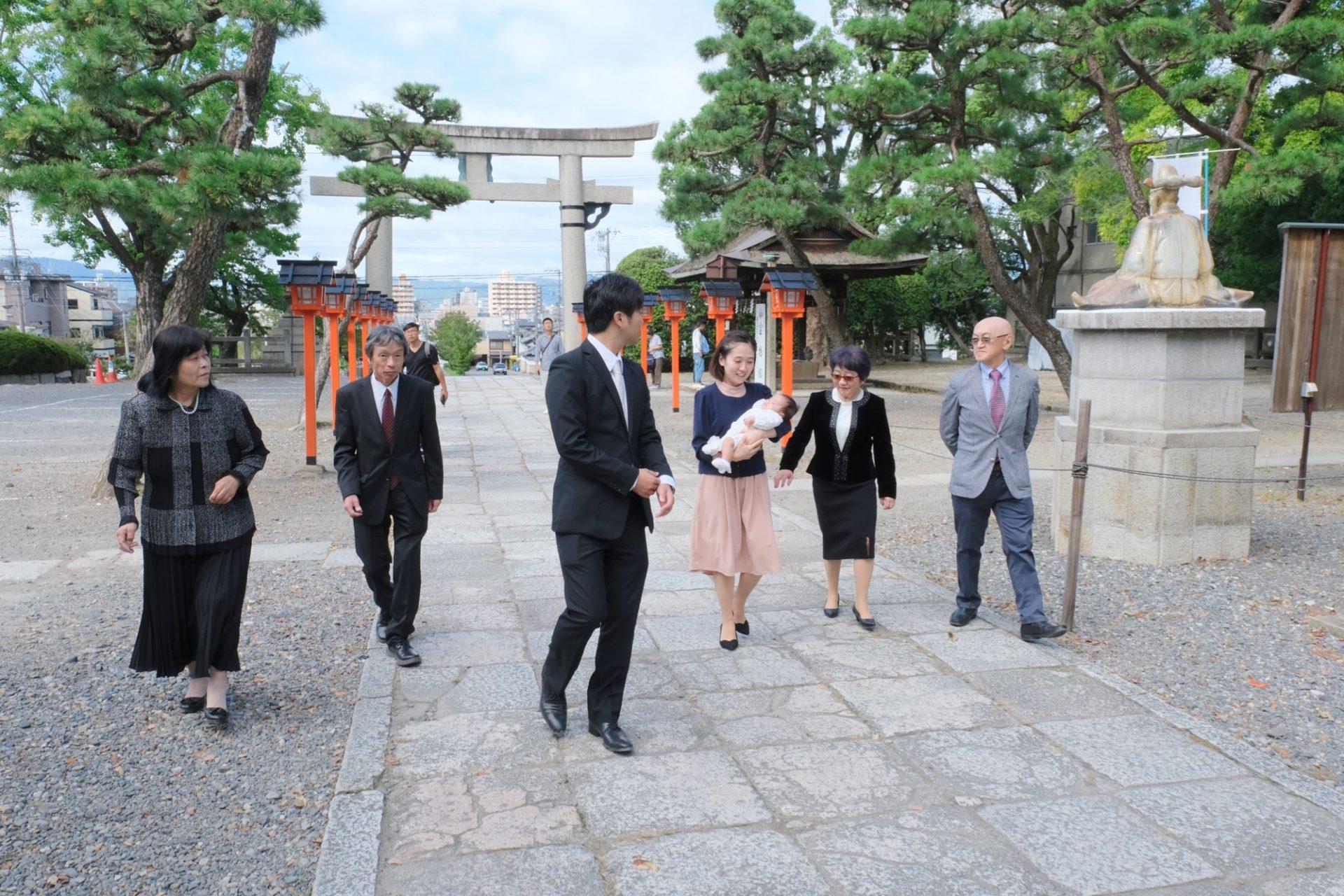 京都豊国神社のお宮参り写真