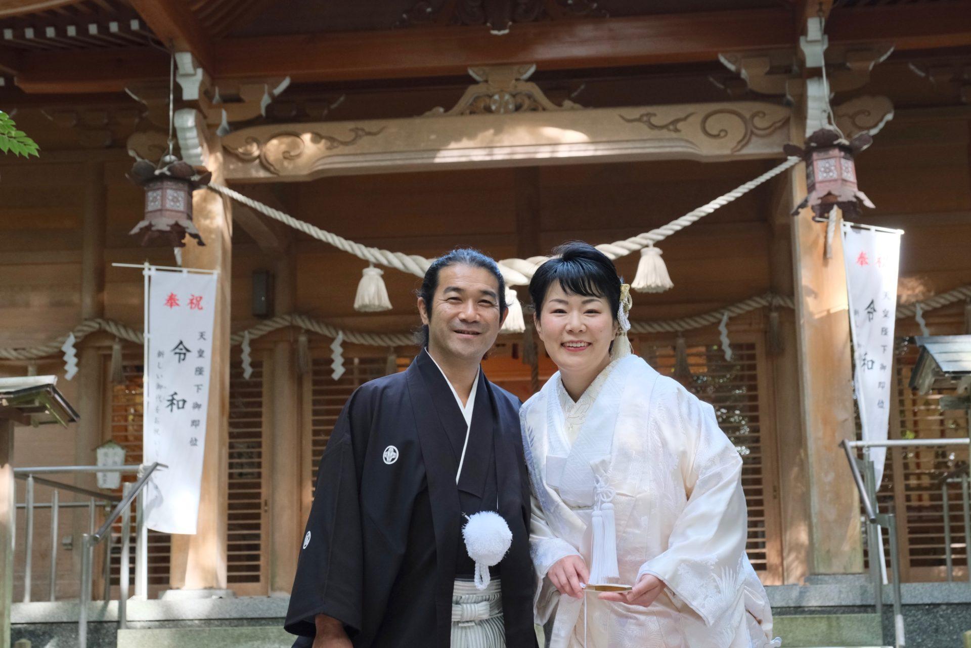 石川県珠洲市の須須神社で白無垢の結婚式