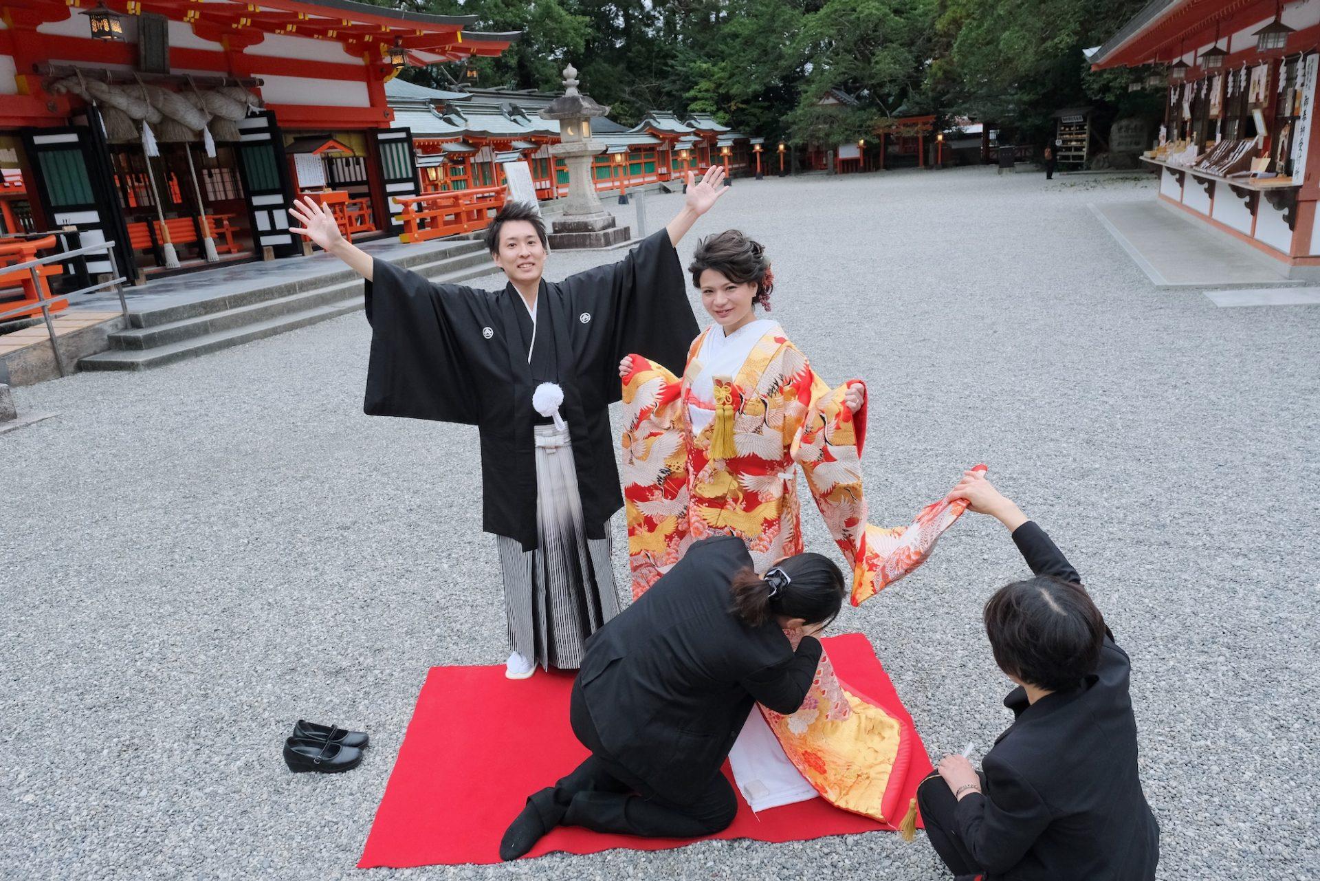熊野速玉大社で白無垢結婚式