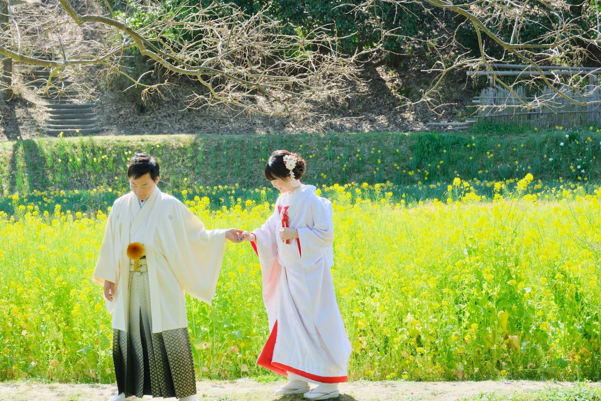 奈良で結婚式の和装前撮りロケーションフォトウエディング