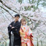 奈良の和装前撮り写真