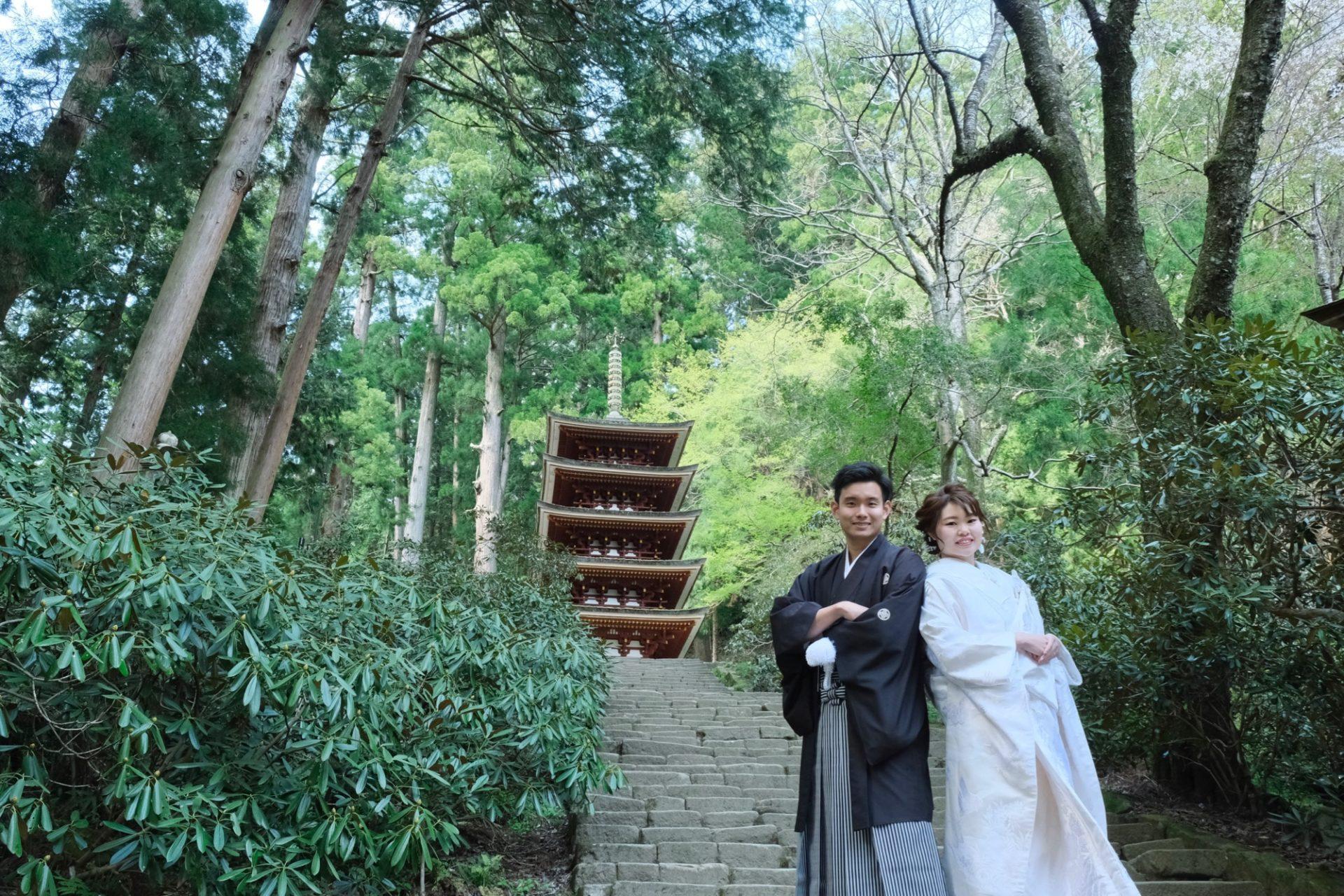 結婚式の前撮りフォトウエディングの写真