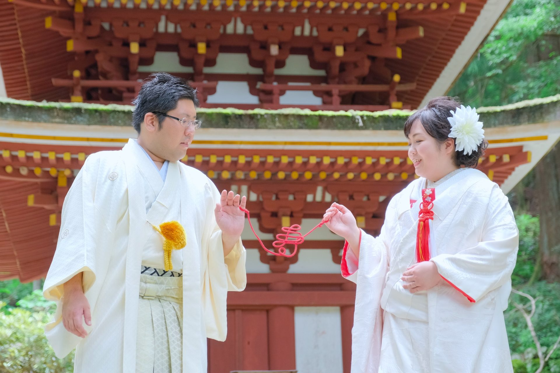 奈良の室生寺での和装前撮り
