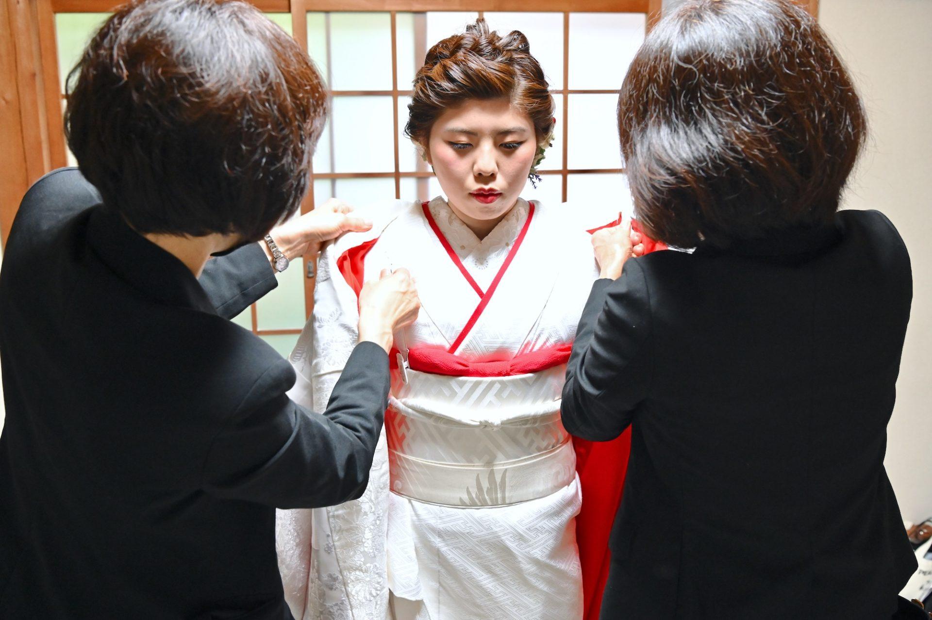 熊野速玉大社で白無垢の結婚式