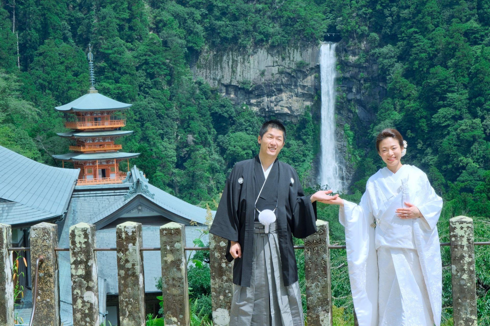 熊野那智大社と熊野古道で前撮り写真