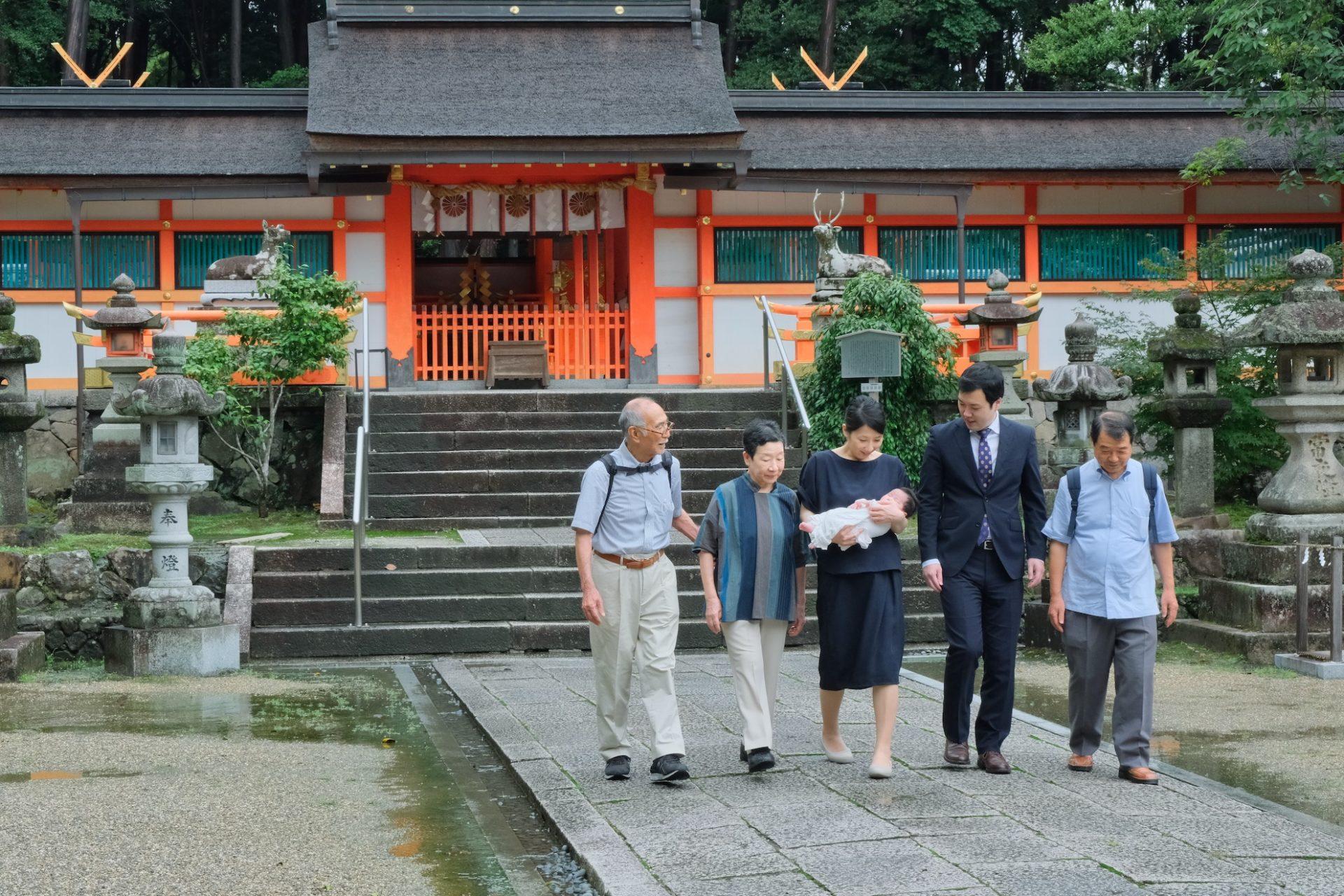 大原野神社でお宮参り写真