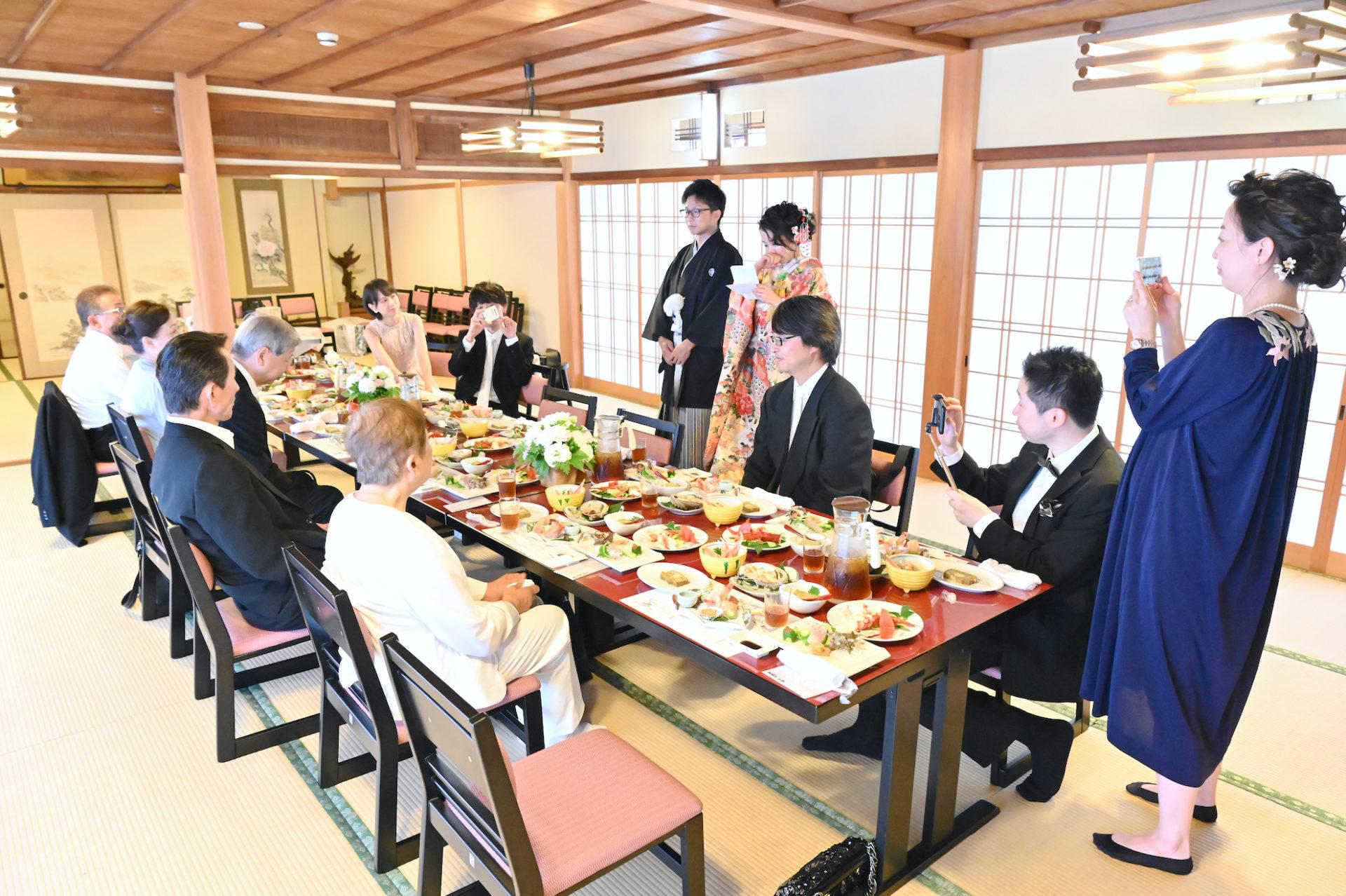 大正楼で食事会と披露宴