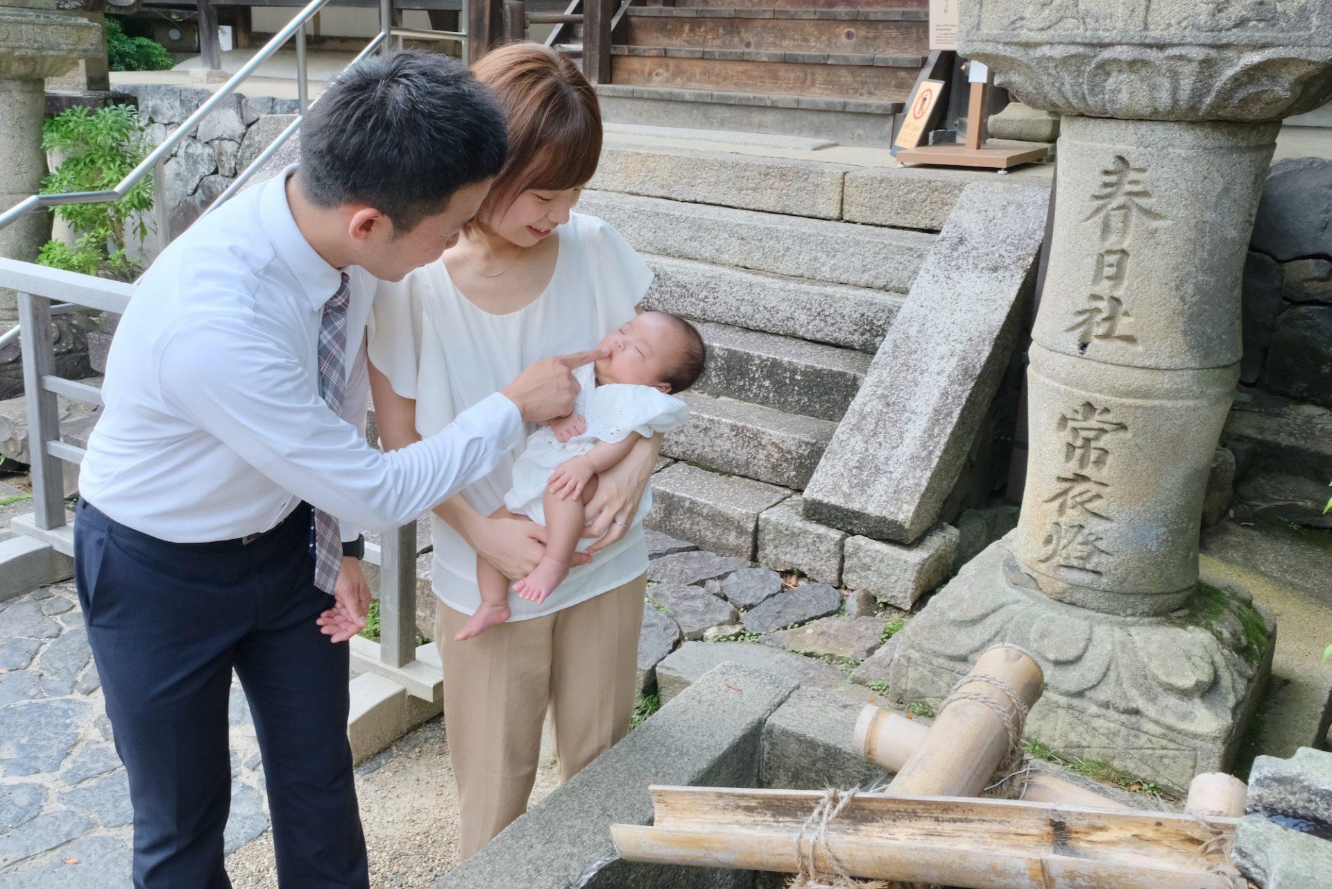 春日大社のお宮参り記念写真