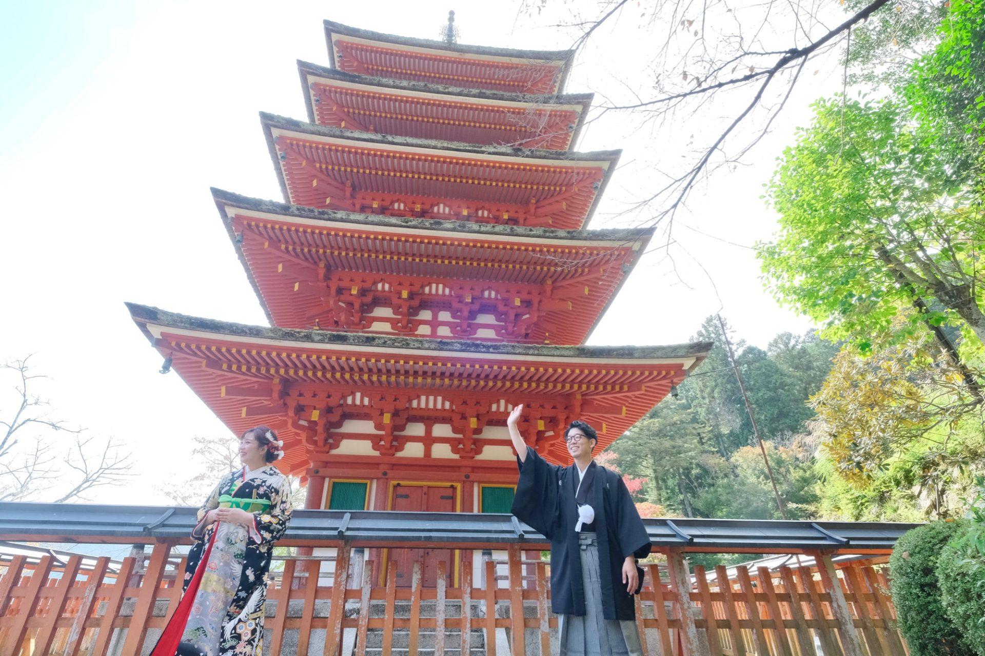 長谷寺の仏前結婚式の花嫁さん