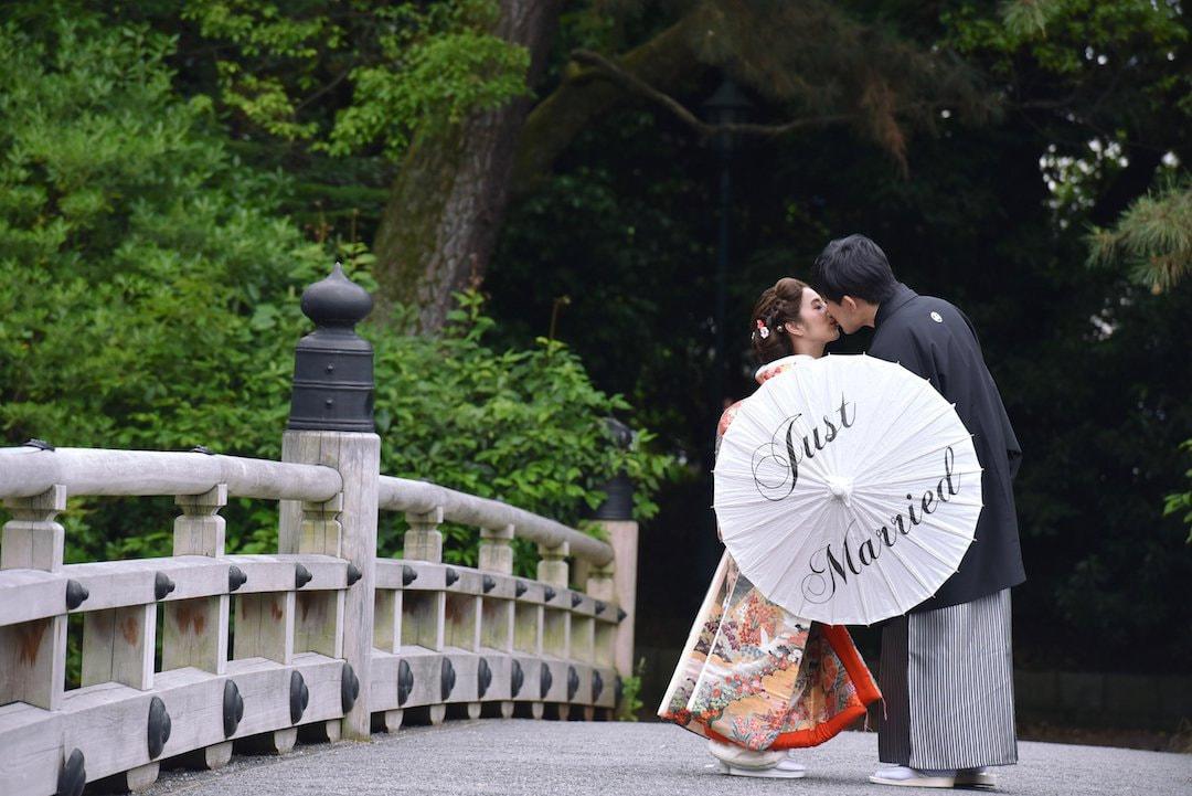 結婚記念の色打掛け写真