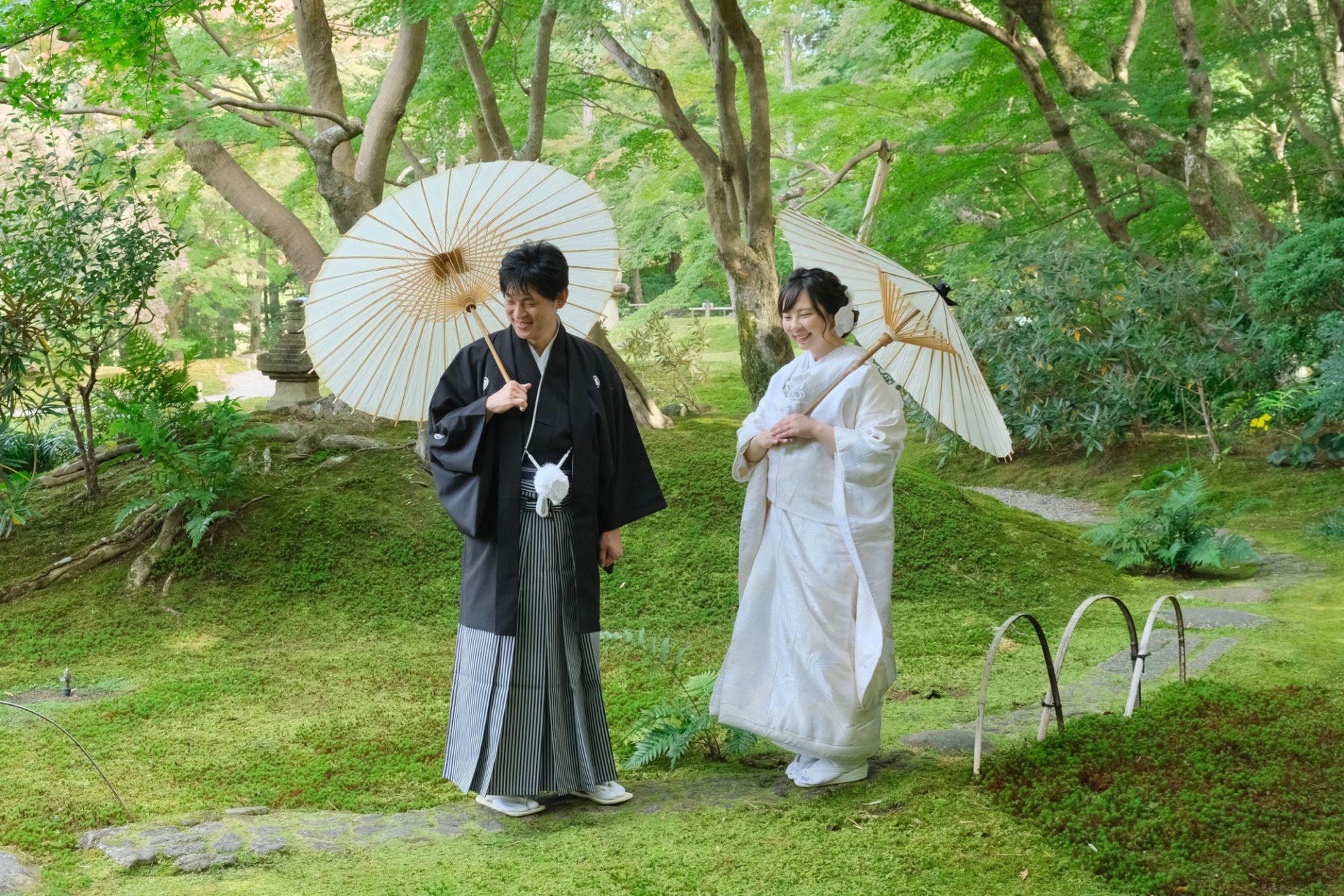 奈良で和装フォトウエディングの新婦さん