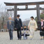 吉野神宮で七五三の写真
