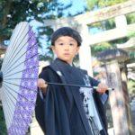 京都北野天満宮の七五三参りの写真